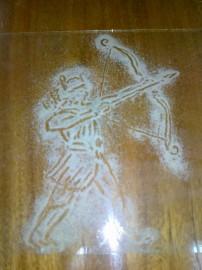 Лучник из песка