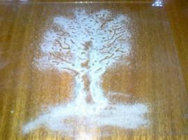 Дерево из песка