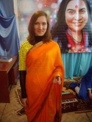 Зрительница в сари