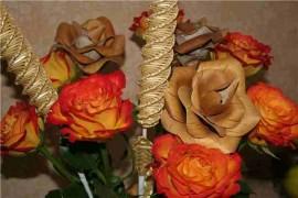 Готовые розы из бересты
